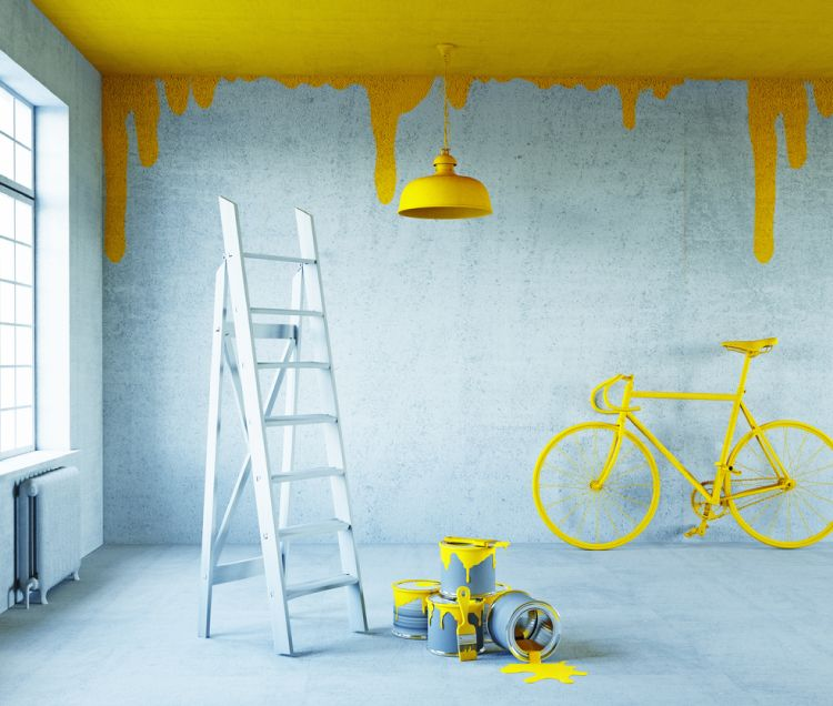 Low budget decor ideas_paint the ceiling