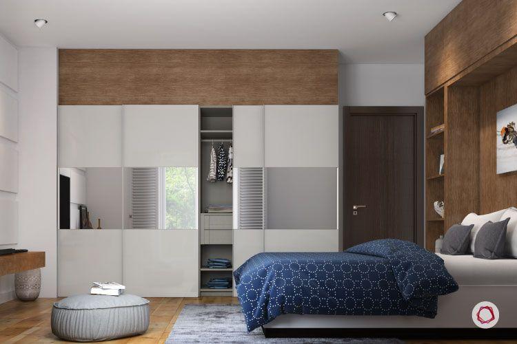 Bangalore interior design_whites and oak