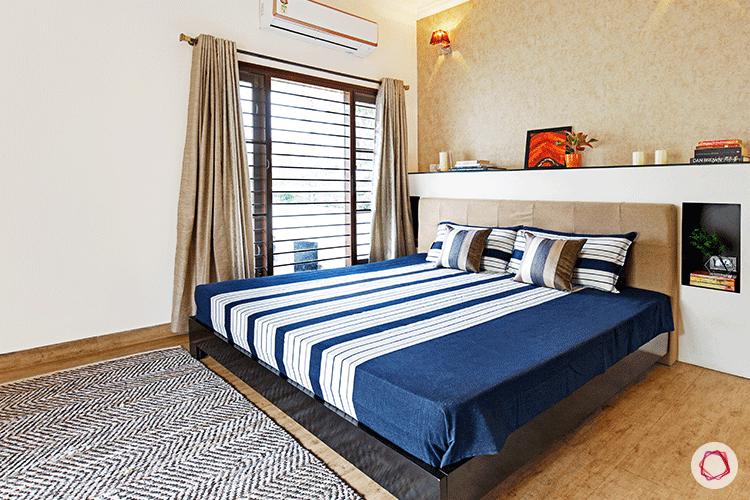 Simple Bangalore interior design_bedroom side view