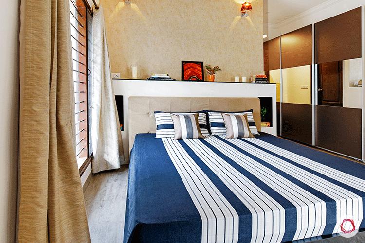 Simple Bangalore interior design_bedroom bed view