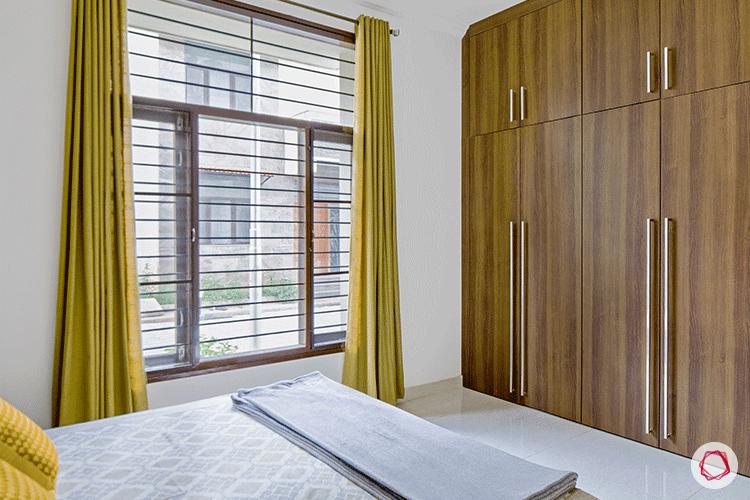 Simple Bangalore interior design_yellow room wardrobes
