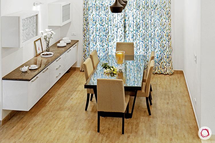 Simple Bangalore interior design_dining room top view