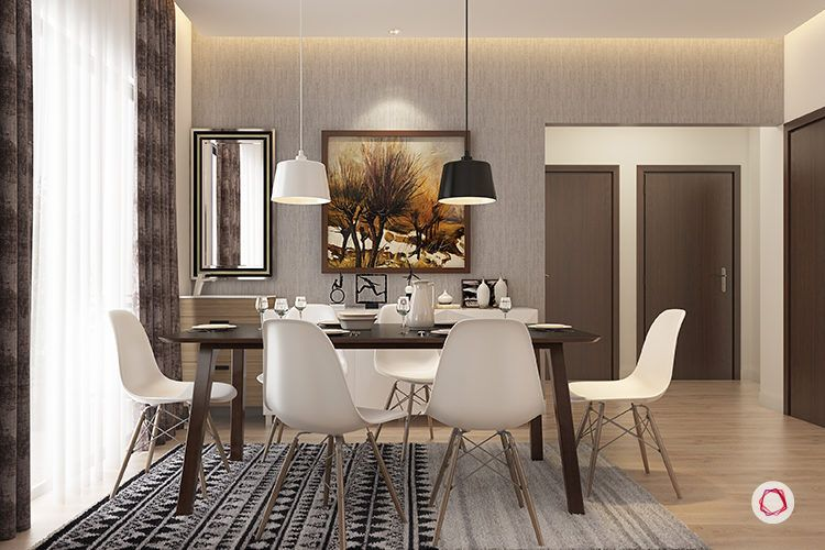 interior design bangalore sekhar hydepark - dining room