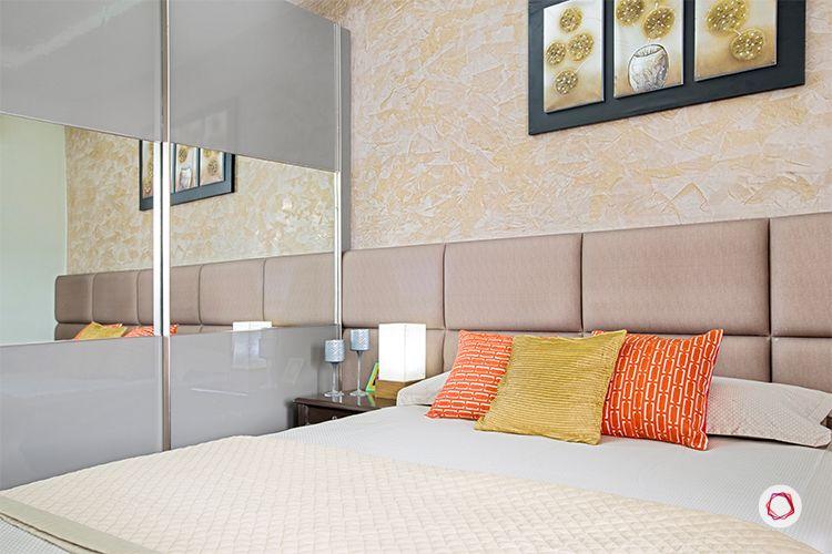 Noida interior design_upholstered headboard