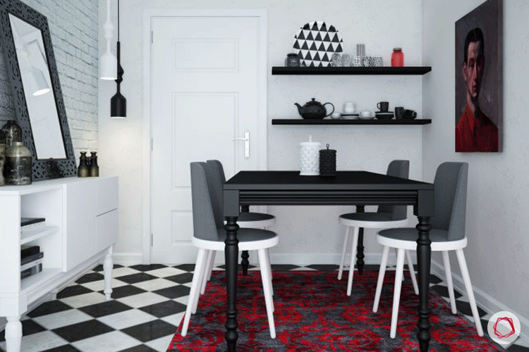 Accent color red_dining