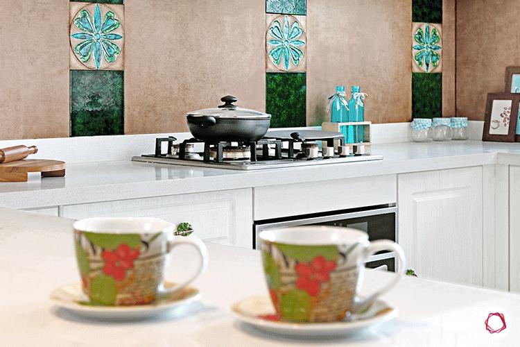 white bangalore kitchen design_U shape kitchen
