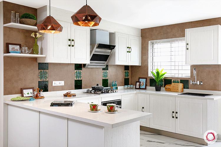 white bangalore kitchen design_open style