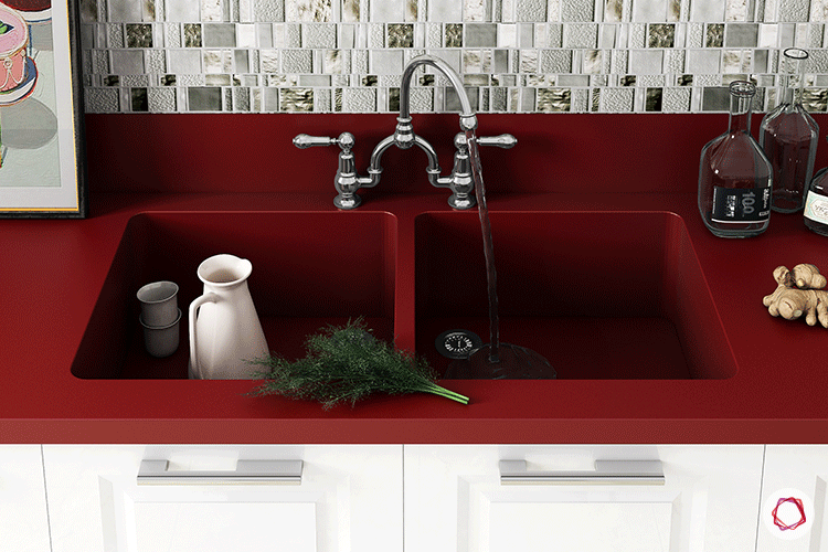 One Piece Kitchen Countertop And Sink Designs