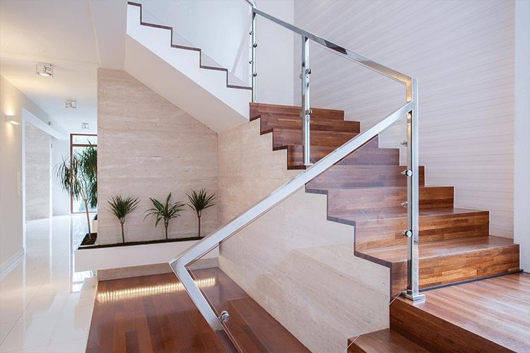 Staircase design_glass railing