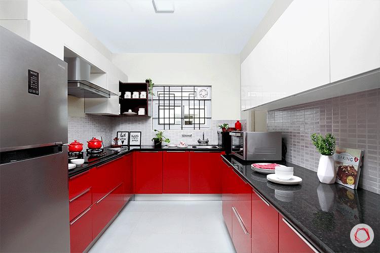 Fresh colors Bangalore interior design kitchen