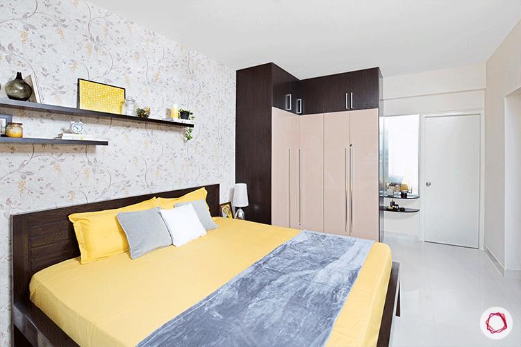 Fresh colors Bangalore interior design master bedroom full