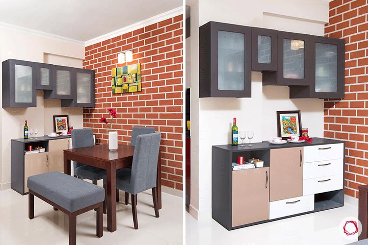 Fresh colors Bangalore interior design dining