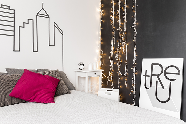 Fairy light decoration ideas - wall