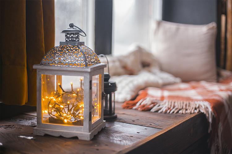 Fairy light decoration ideas -lantern
