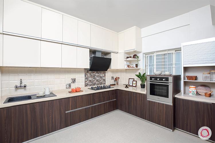 Kitchen with loft entire view