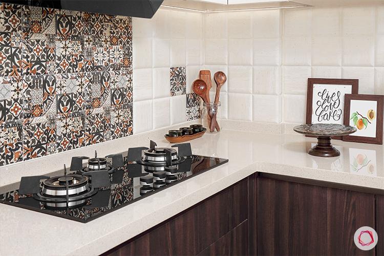 Kitchen with loft - hob