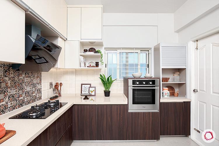 Kitchen with loft- window