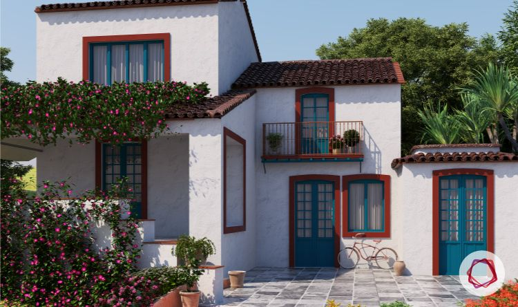 types of house paint-white house exterior