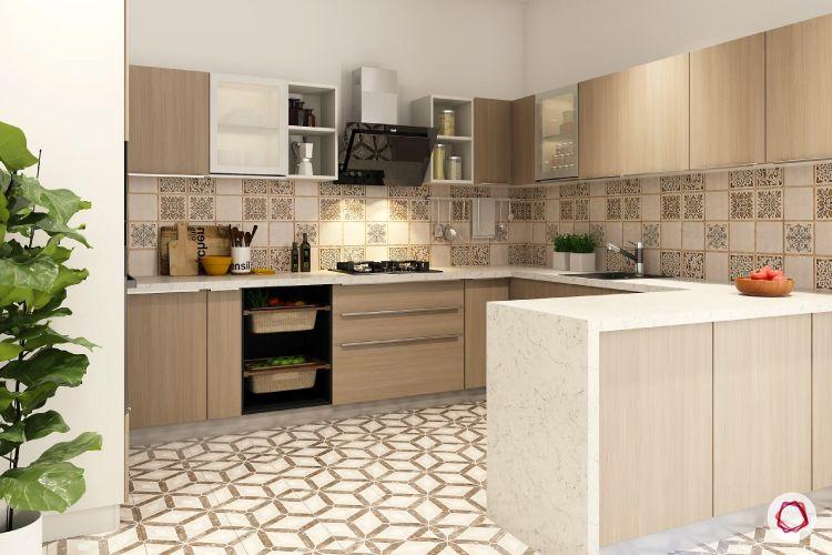 geometric patterns - kitchen flooring