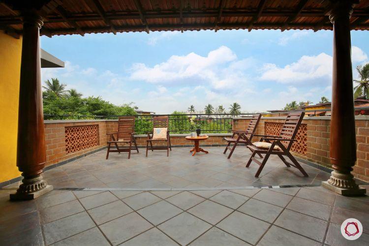 home interiors at Kengeri villa-balcony view