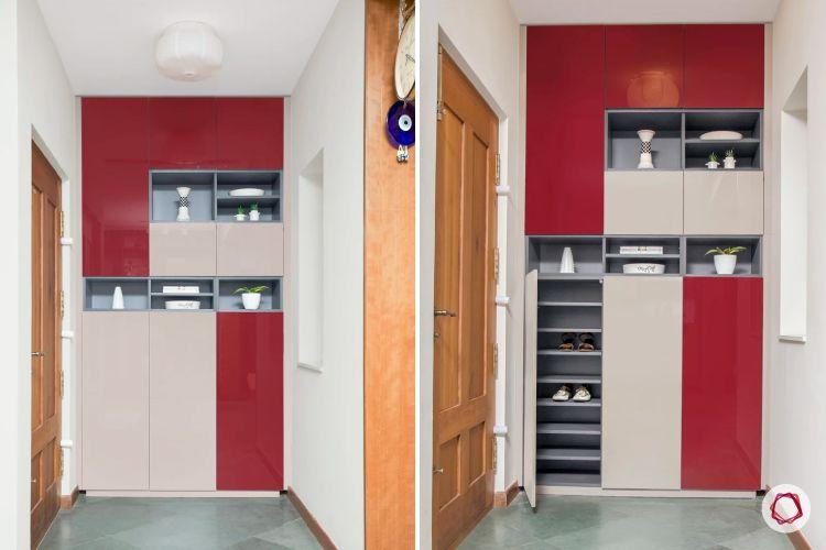 home interiors at kengeri villa-foyer-entryway storage