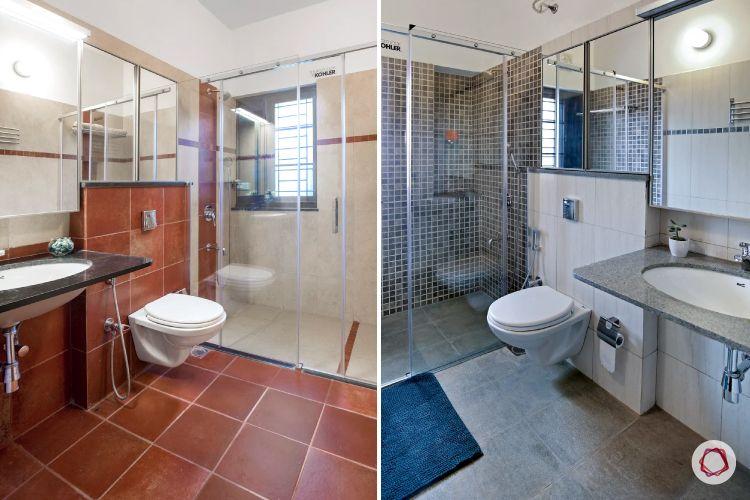 home interiors at Kengeri villa-bathrooms-mirrored vanity units