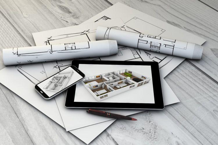 Designer-desk-interior design drawings