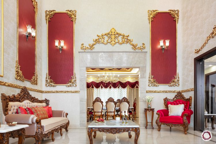 Home Decor Ideas in Red - Royal Living Room