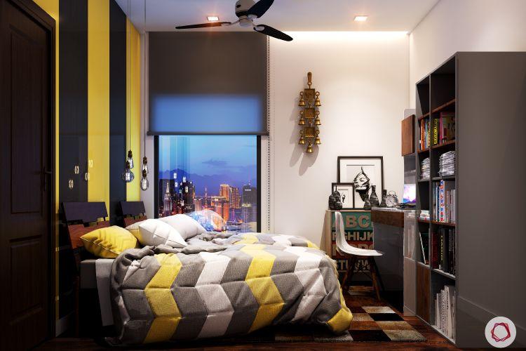 kids' Room design-yellow and black
