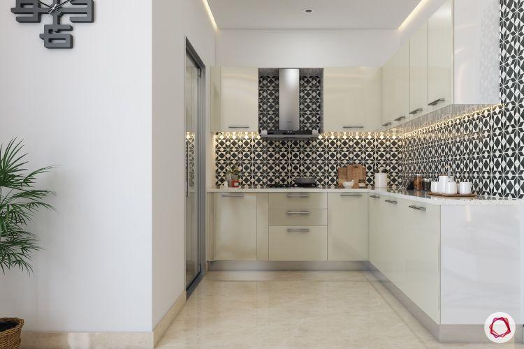 Kitchen Tiles-black and whote kitchen-white kitchen cabinets