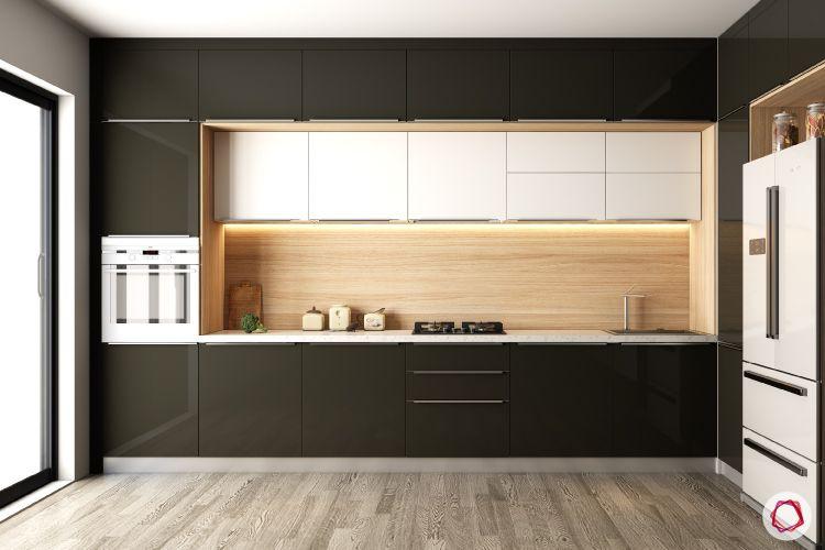 Kitchen Tiles-wooden kitchen backsplash-black and white kitchen