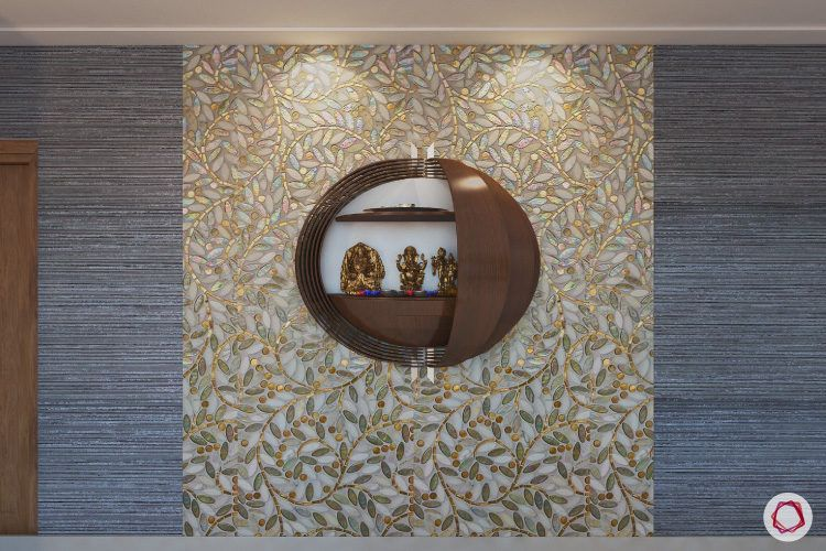 wall mounted puja room