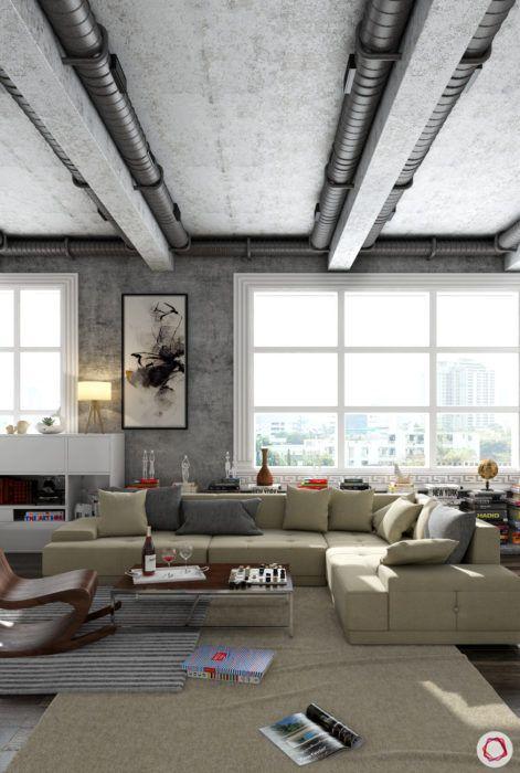 Kangana Ranaut Manali home-industrial style ceiling