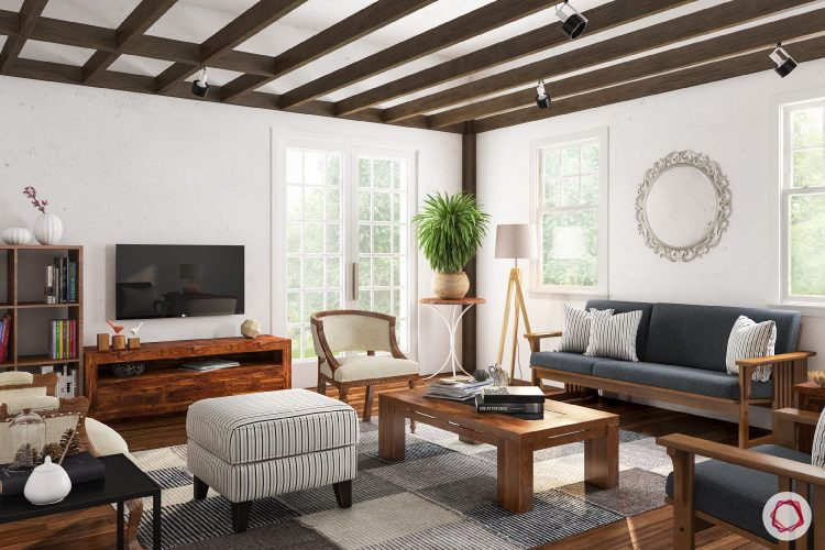 kangana ranaut manali home-white walls-wooden furniture