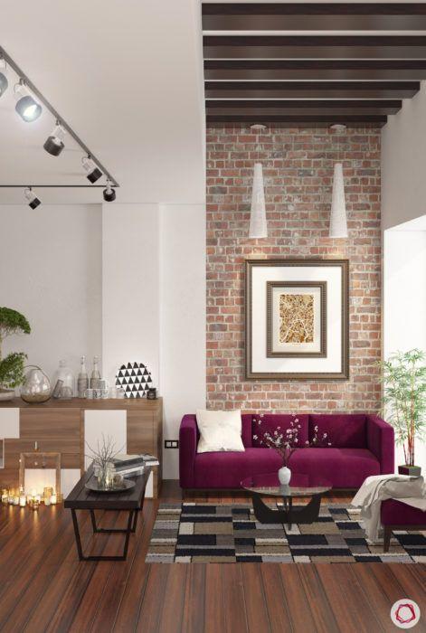 kangana ranaut manali home-exposed brick wall-wooden flloring