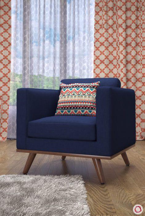 kangana ranaut manali home-blue accent chair