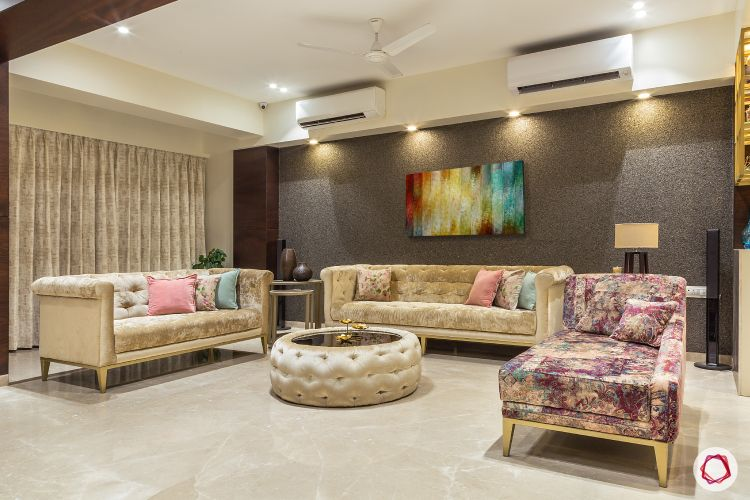 House design-living room-chesterfield sofas-accent wall