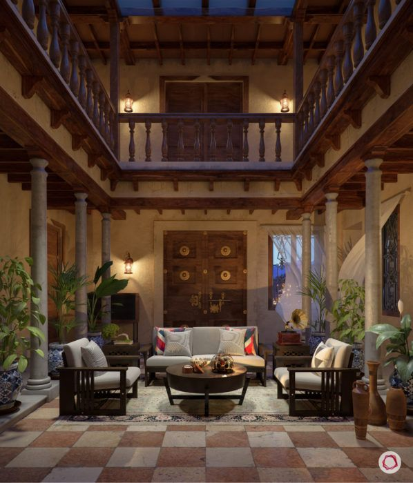 kalki koechlin pondicherry home-courtyard