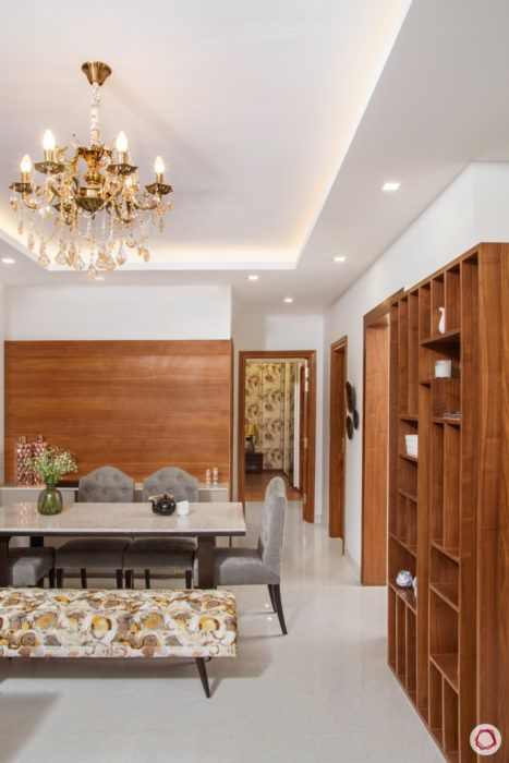 best interior design-wooden display shelves-dining room