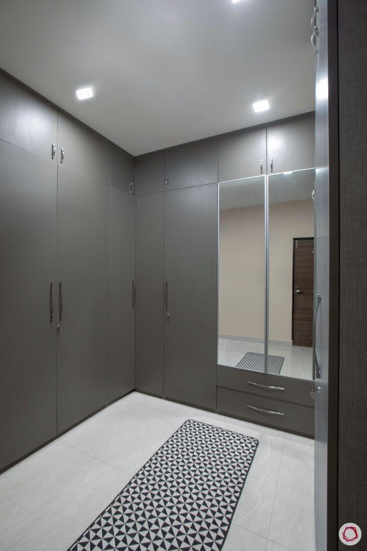 House interior-wardrobe-mirror panel