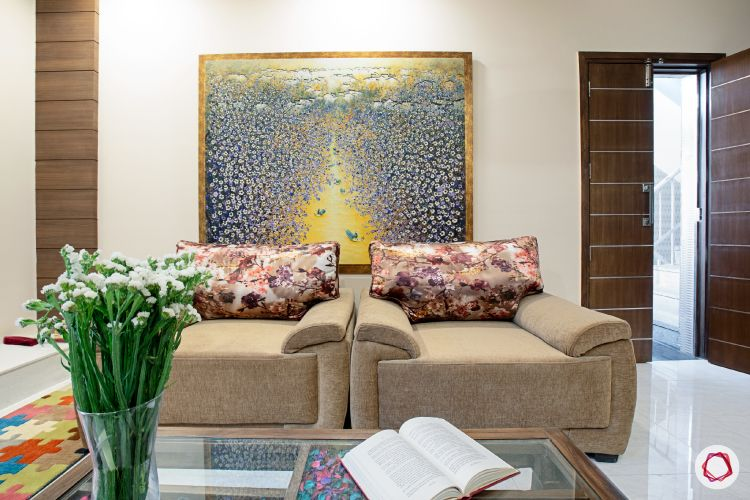 House interior-living room-sofa-painting