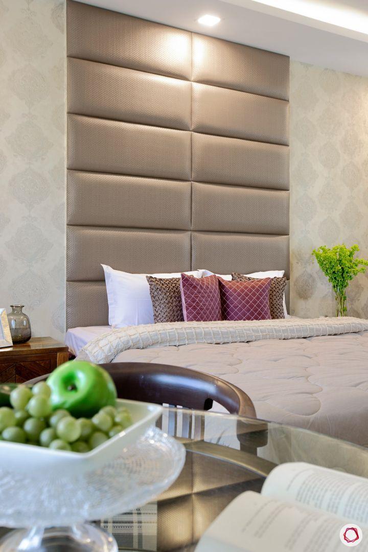 House interior-panelled headboard-bedroom