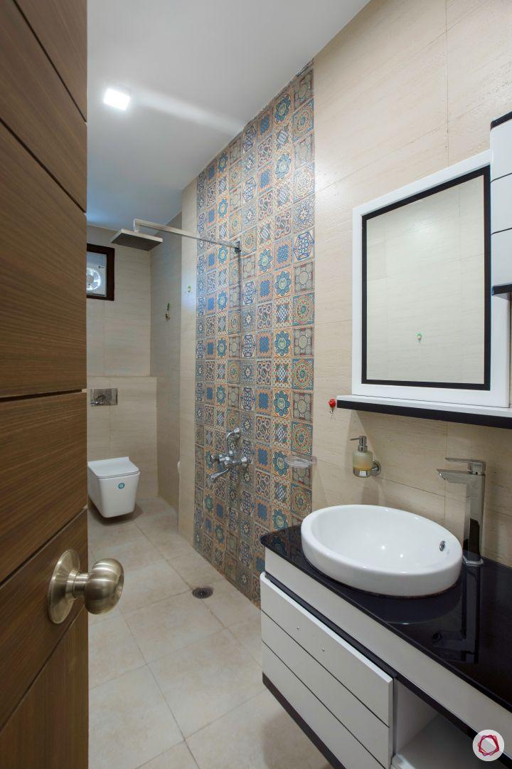 House interior-bathroom-rajasthani tiles