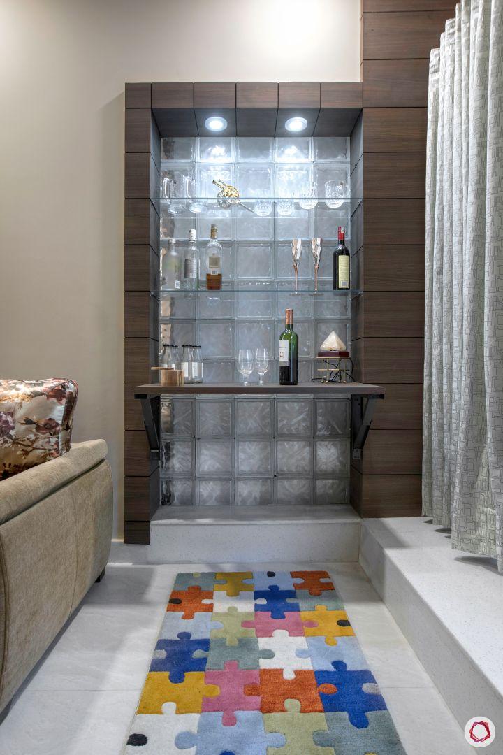 House interior-bar unit-carpet-living room