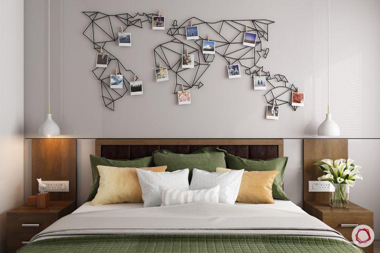 Room decor for travel_world map mural_photographs