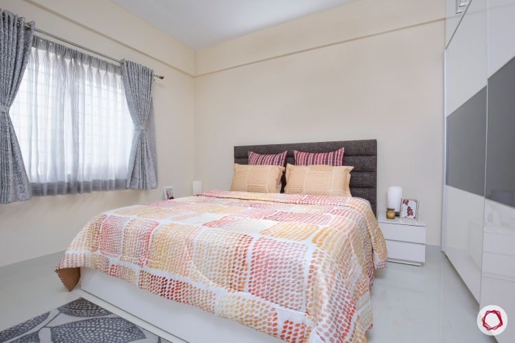 blinds-bedroom-sheer-drapes-grey-headboard-white-wardrobe