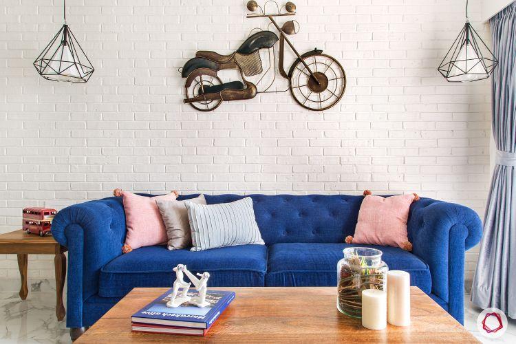 parineeti chopra-blue-sofa-bike-living-room-table