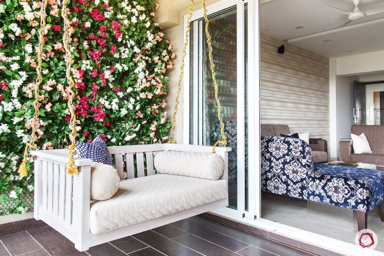 parineeti chopra-swing-vertical-garden-flowers-sofa-balcony