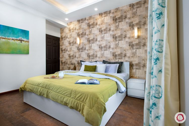 Room-design-white walls-wallpaper