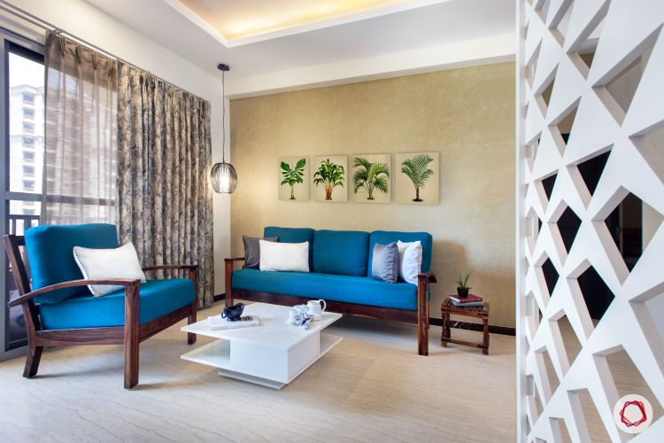 Noida Flat Gets Budget Friendly Interiors